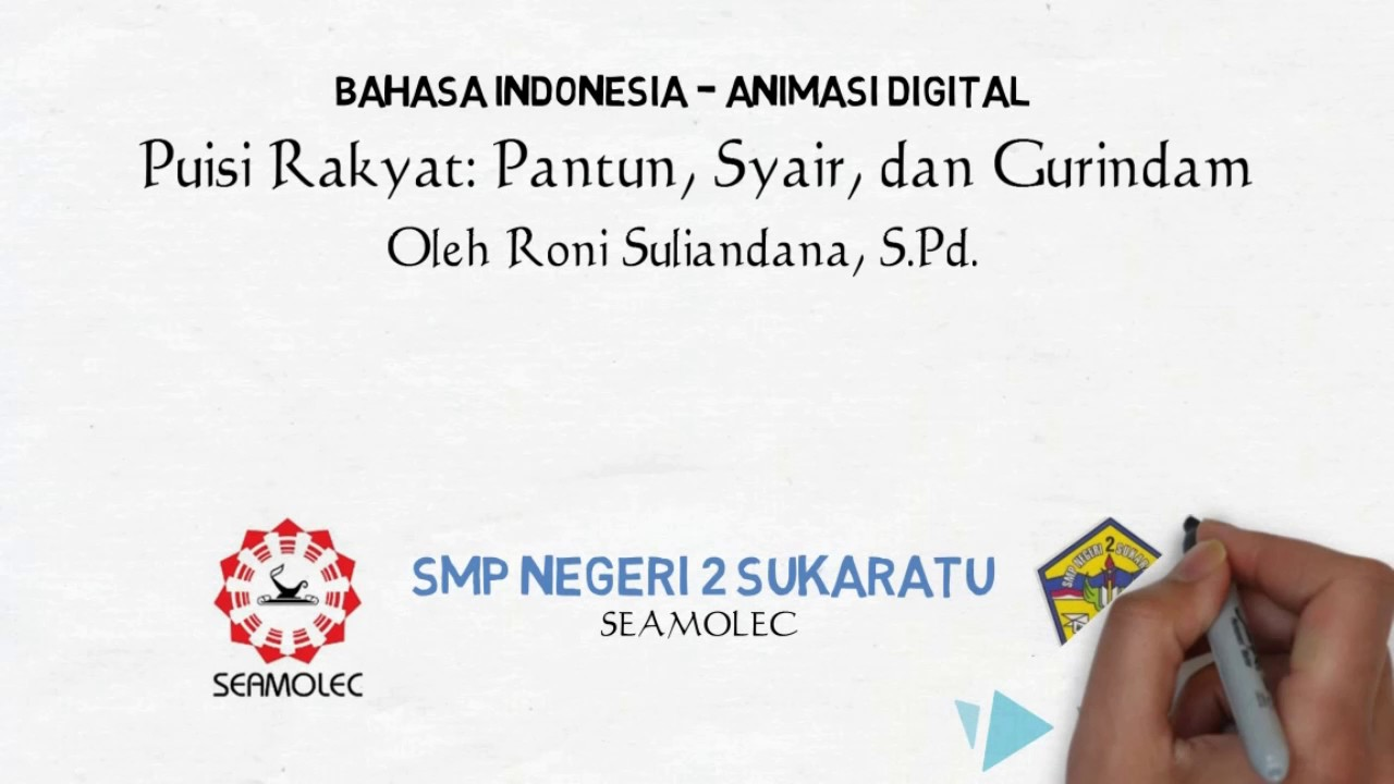 Puisi Rakyat Pantun Syair Dan Gurindam 1 Youtube