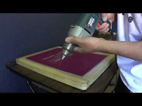 4 Color 1 Station Screen Printing Press Assembly Pt 3