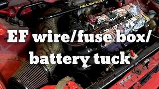 Honda Civic EF Hatch Wire, Fuse Box, Battery Tuck - YouTube   Tuck Box And Battery Fuse      YouTube