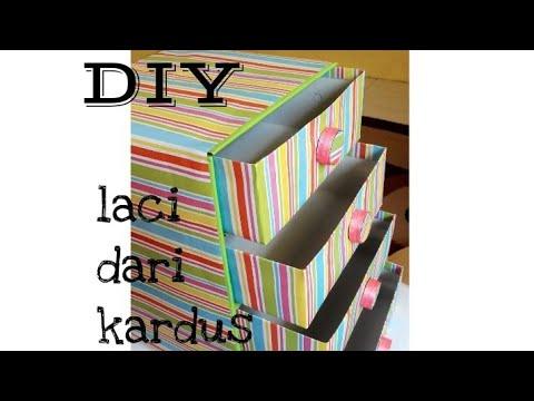 Tutorial Laci Dari Kotak Kue Nasi Kardus Easy Diy Youtube