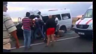 Жесткое ДТП авария трое погибших на трассе Караганда Балхаш 23 08 13