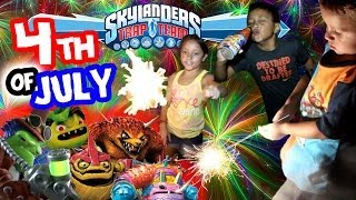 Skylanders Trap Team Fireworks Show w/ Villains & More (Sky Fams 4th of July Celebration)(The Sky Family celebrates the 4th of July and wishes you all a great one! If you don't celebrate independence day, you can still enjoy the fun we had with some ..., 2014-07-05T01:28:50.000Z)