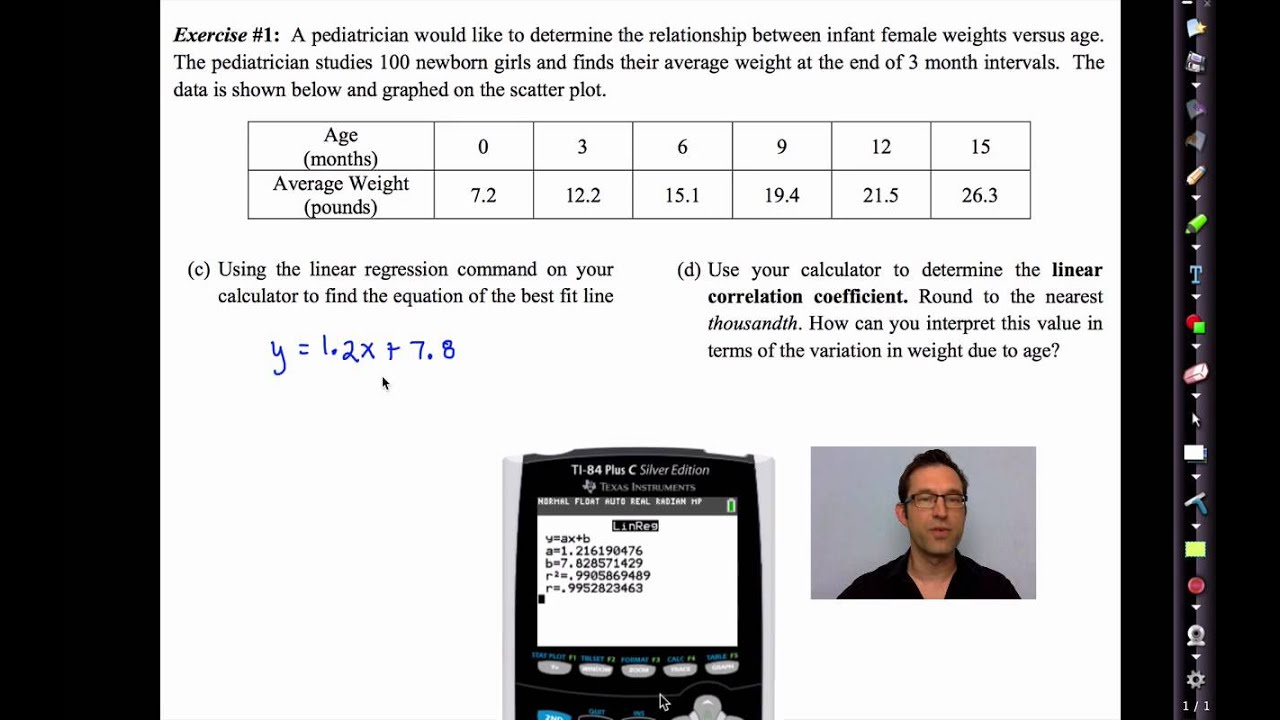 Common Core Algebra II Unit 13 Lesson 11 Linear Regression and Lines of  Best Fit