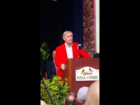 Ted Simmons St. Louis Cardinals Hall of Fame Induction