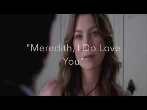 Grey's Anatomy Best Scene    Meredith and Derek Love Story Moments