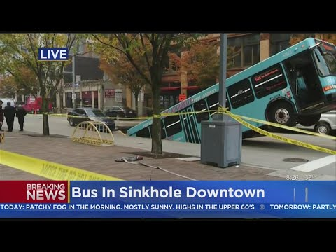 Sports Wrap with Ron Potesta - Pittsburgh Sinkhole Swallows Half Of Port Authority Bus This Morning