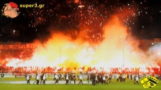 The Art of Pyroshow || Aris vs paok 2-0 | SUPER3 Official