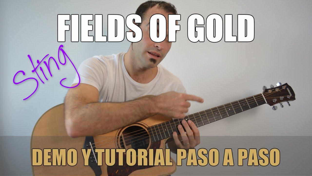 Como Tocar Fields Of Gold Sting Eva Cassidy Guitarra Facil Paso A