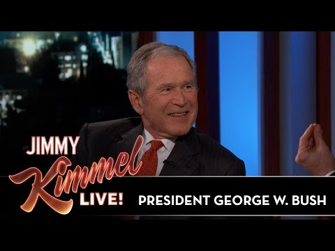 Jimmy Kimmels FULL INTERVIEW with President George W. Bush
