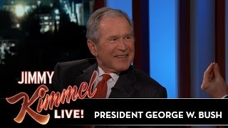 Download Jimmy Kimmel's FULL INTERVIEW with President George W. Bush Mp3 and Videos