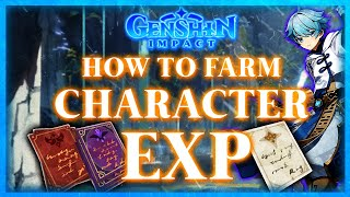 Best Ways To Get Character Experience!  Genshin Impact (Guide)