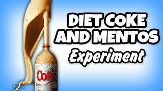 DIY | Diet Coke And Mentos Eruption | Science Experiments To Do A Home