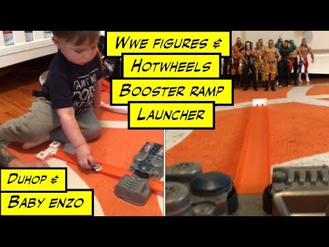 Duhop WWE ACTION FIGURES HOTWHEELS BOOSTER RAMP LAUNCHER Vlog