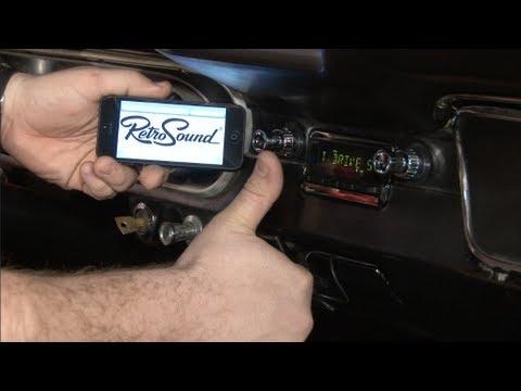 Mustang RetroSound Radio Model Two 1965-1966 Installation - YouTube