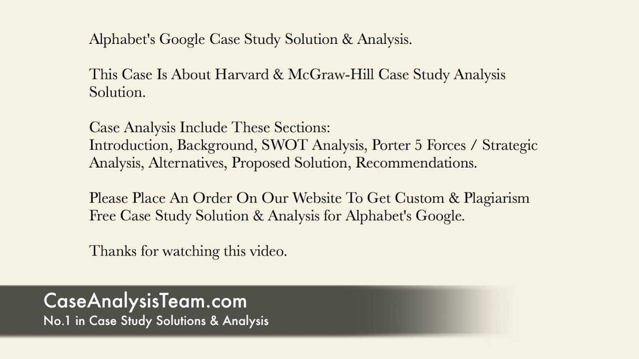 Google IPO Case Study Help Analysis With Solution online
