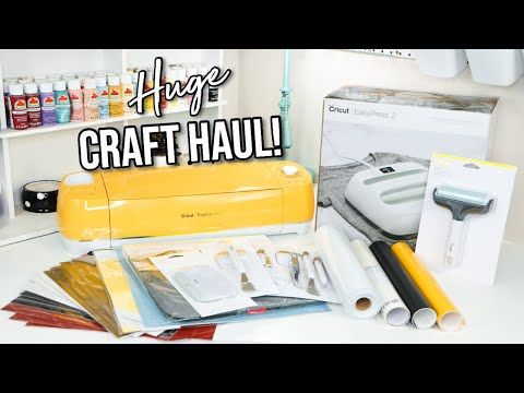 HUGE CRAFT HAUL!! | Cricut Beginner Essentials 2020