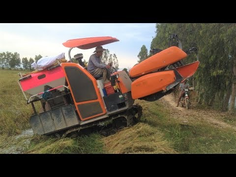 World most amazing modern agriculture/ amazing tractor in Cambodia#Máy cày Kubota