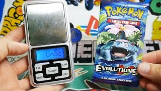 IT WORKS!! Weighing 18 Pokemon Evolutions Booster Packs!! (AMAZING PULLS)