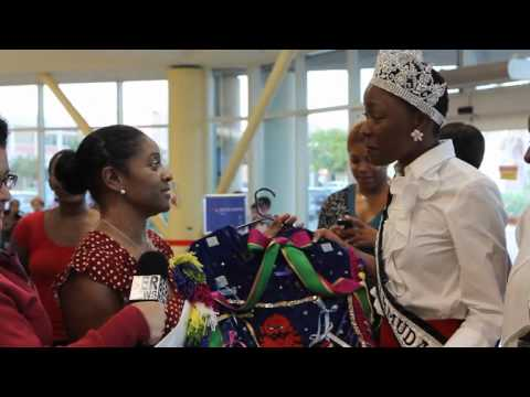 Miss Bermuda Receives Gombey Outfit October 18 2011