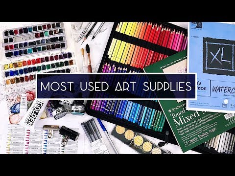My Most Used Art Supplies