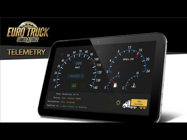 install mobile dashbord for ats and ets2
