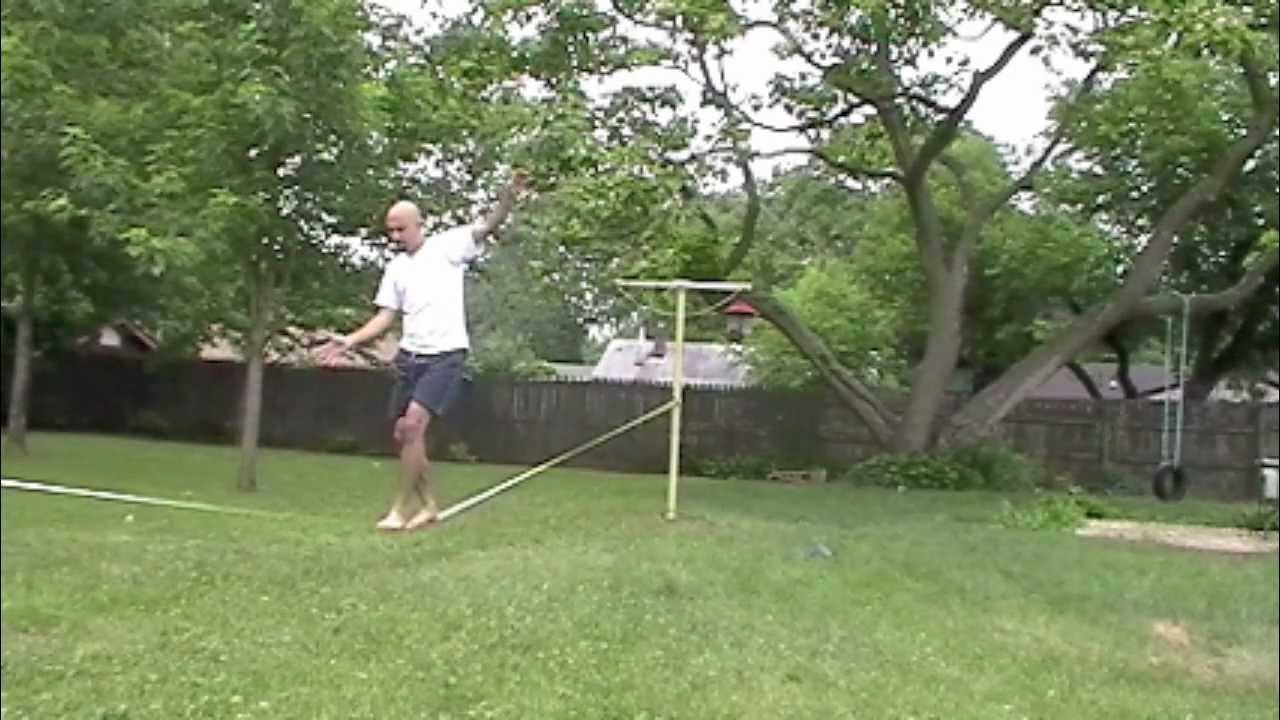 Exceptionnel Learning Slackline At Backyard   YouTube