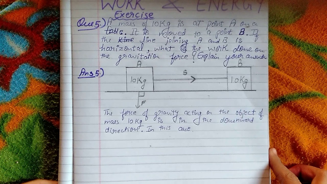 class 9 science ch 11 work and energy exercise Q 5 - YouTube