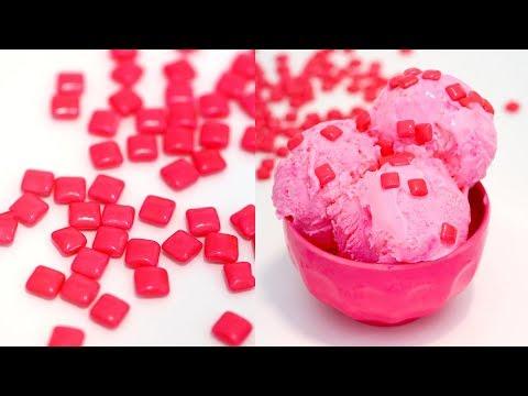 EASY Homemade Bubble Gum Ice Cream   No-Churn Ice Cream   Bubblegum Ice Cream   RECIPE