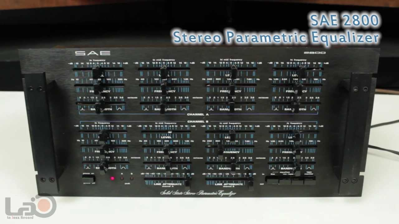 SAE 2800 Stereo Parametric Equalizer - YouTube