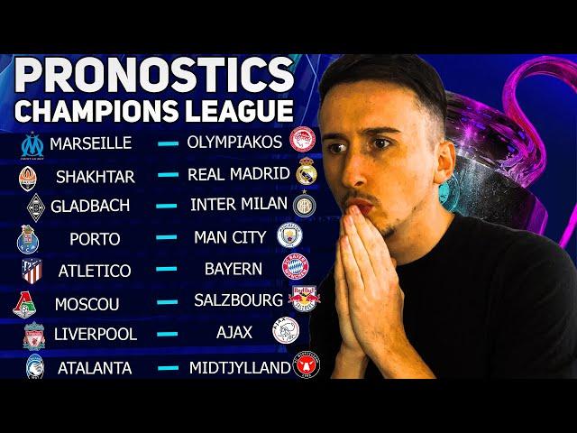 PRONOSTIC FOOT : Mes 8 pronostics Champions League (Marseille gagne enfin ?)