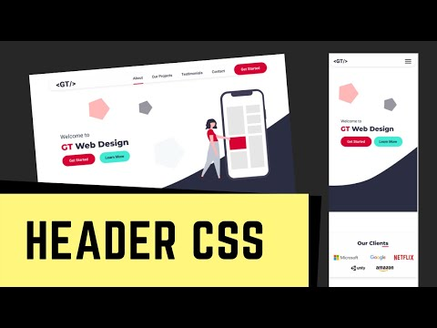 Figma To HTML - One Page Website - Styling The Header