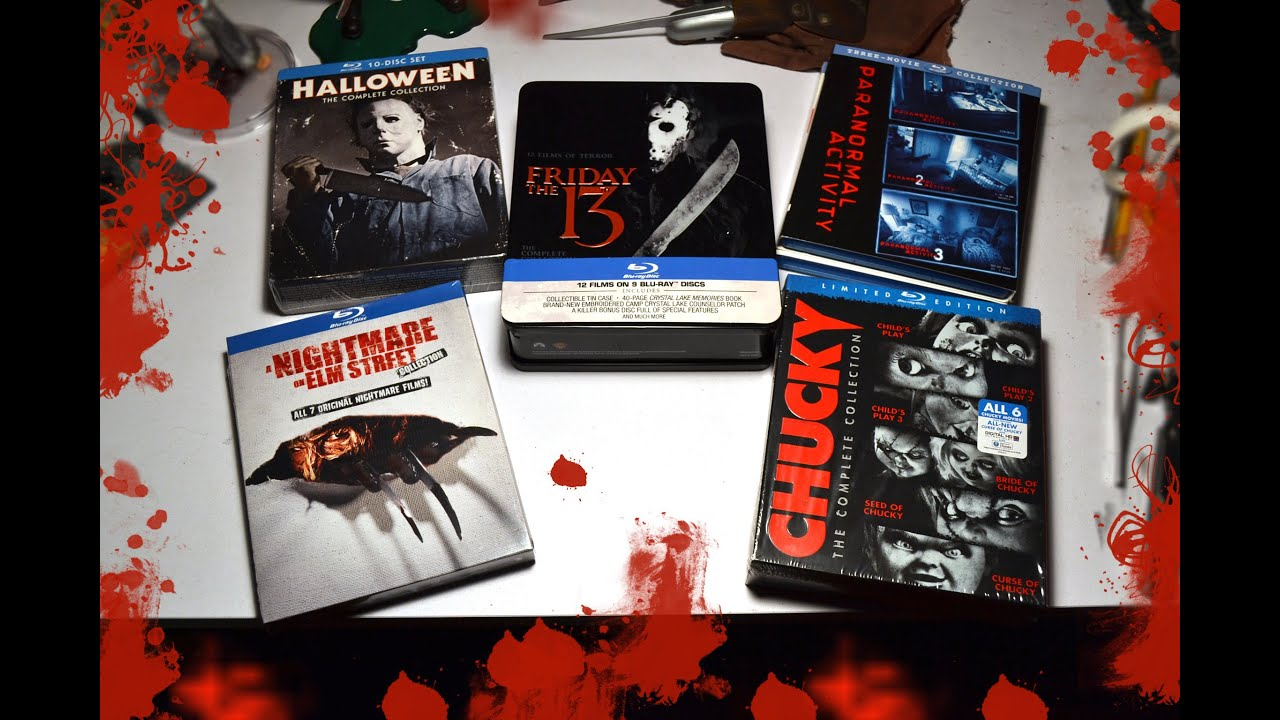 halloween, friday the 13th, a nightmare on elm street, chucky blu