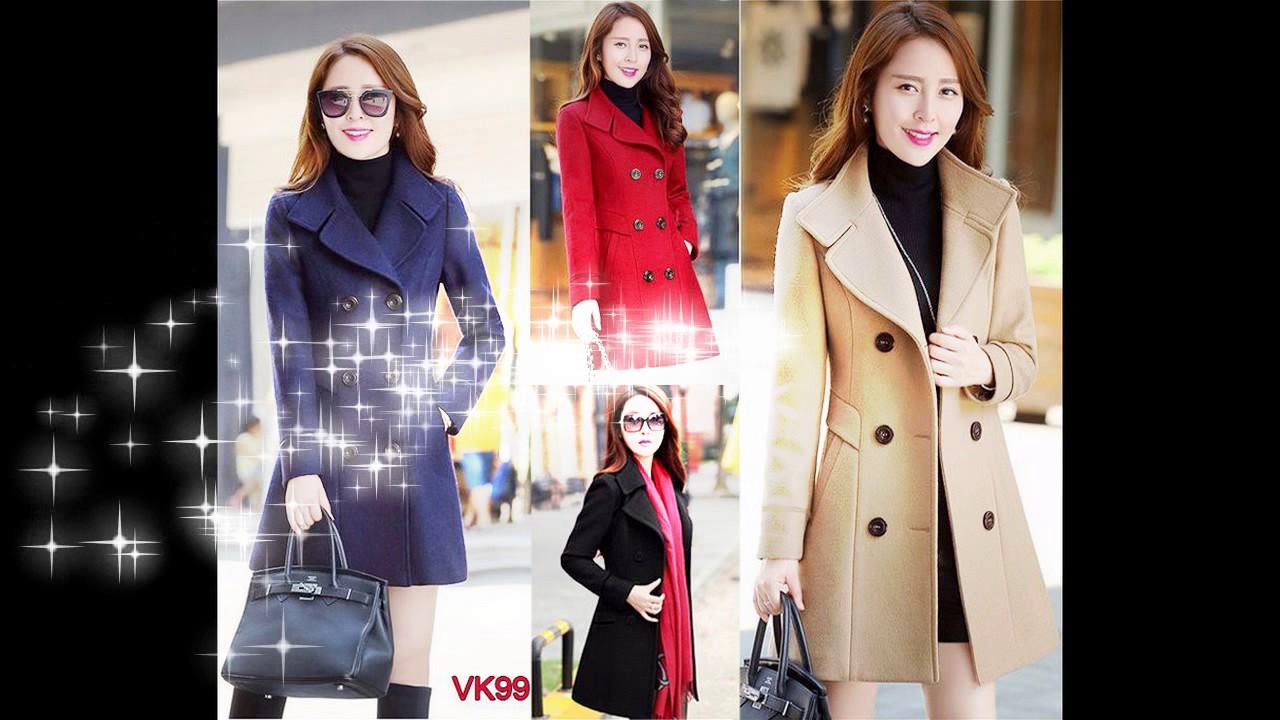 Bộ sưu tập áo khoác dạ nữ cao cấp hàn quốc đẹp xu hướng mới 2017