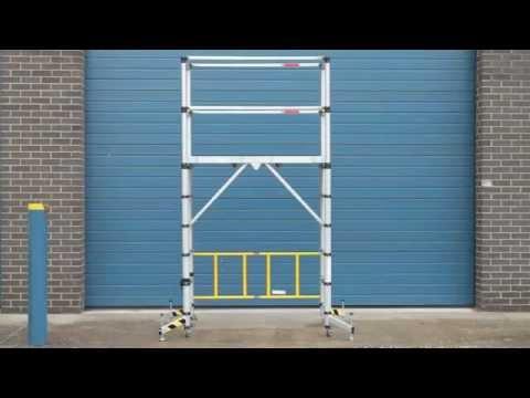 Teletower faltbares teleskopgerüst youtube