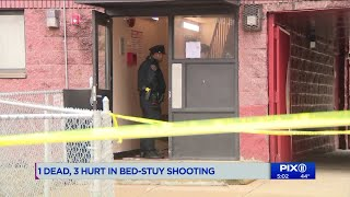 1 dead, 3 injured in shooting at Brooklyn apartment building: police