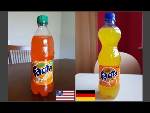 Germany Vs USA Orange Fanta Soft Drink. Why Do We Need Artificial Food Coloring?!