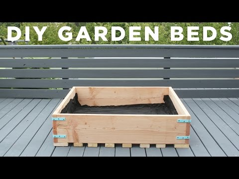 DIY Garden Beds | How to make raised garden planters for a deck