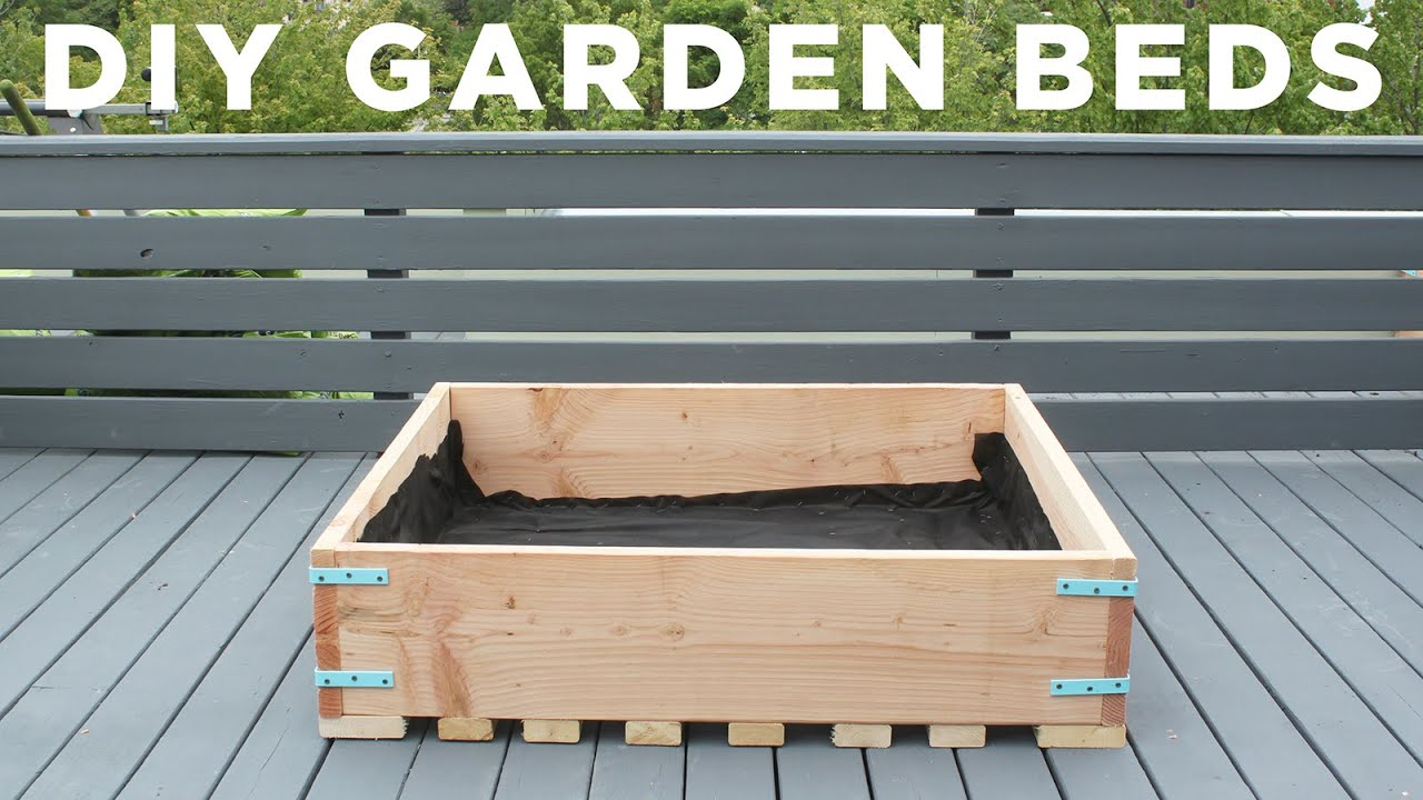 Garden Planter Box Ideas #45 - DIY Garden Beds | How To Make Raised Garden Planters For A Deck - YouTube