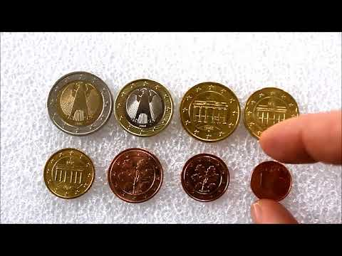 All German Euro Coins With Explanation