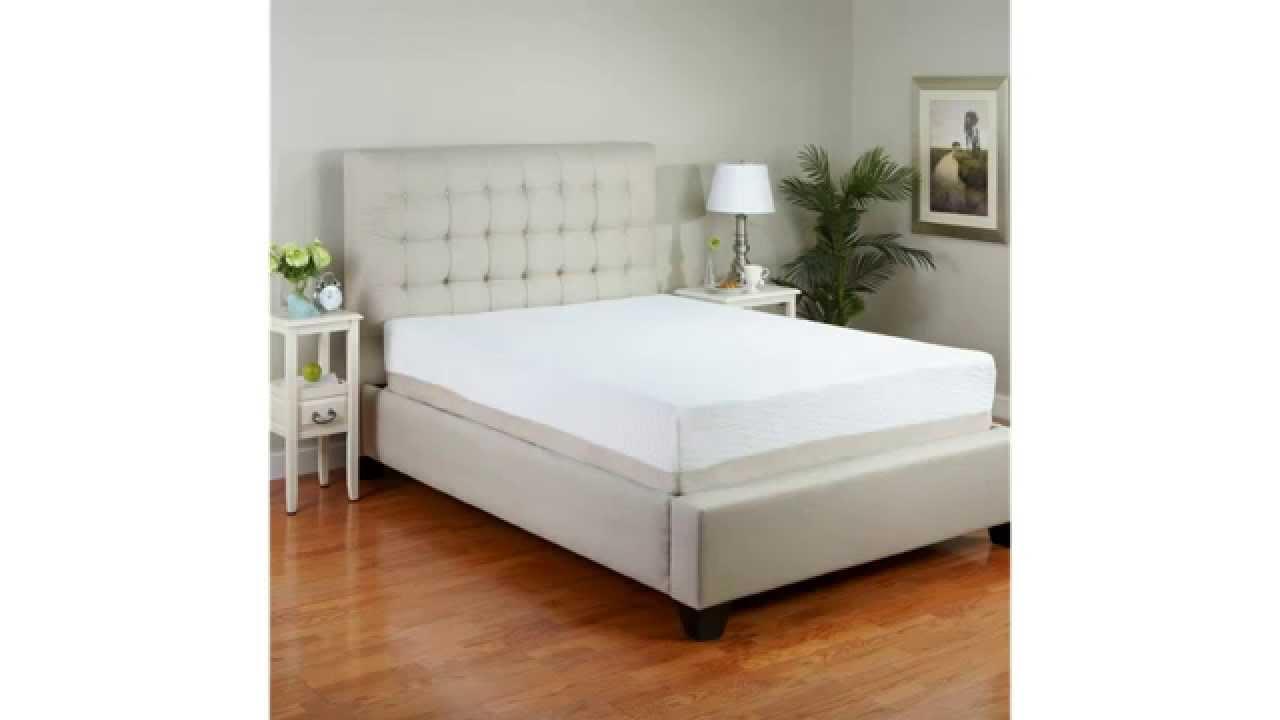 classic brands 11 inch plush latex mattress natural latex foam 25 year warranty queen youtube