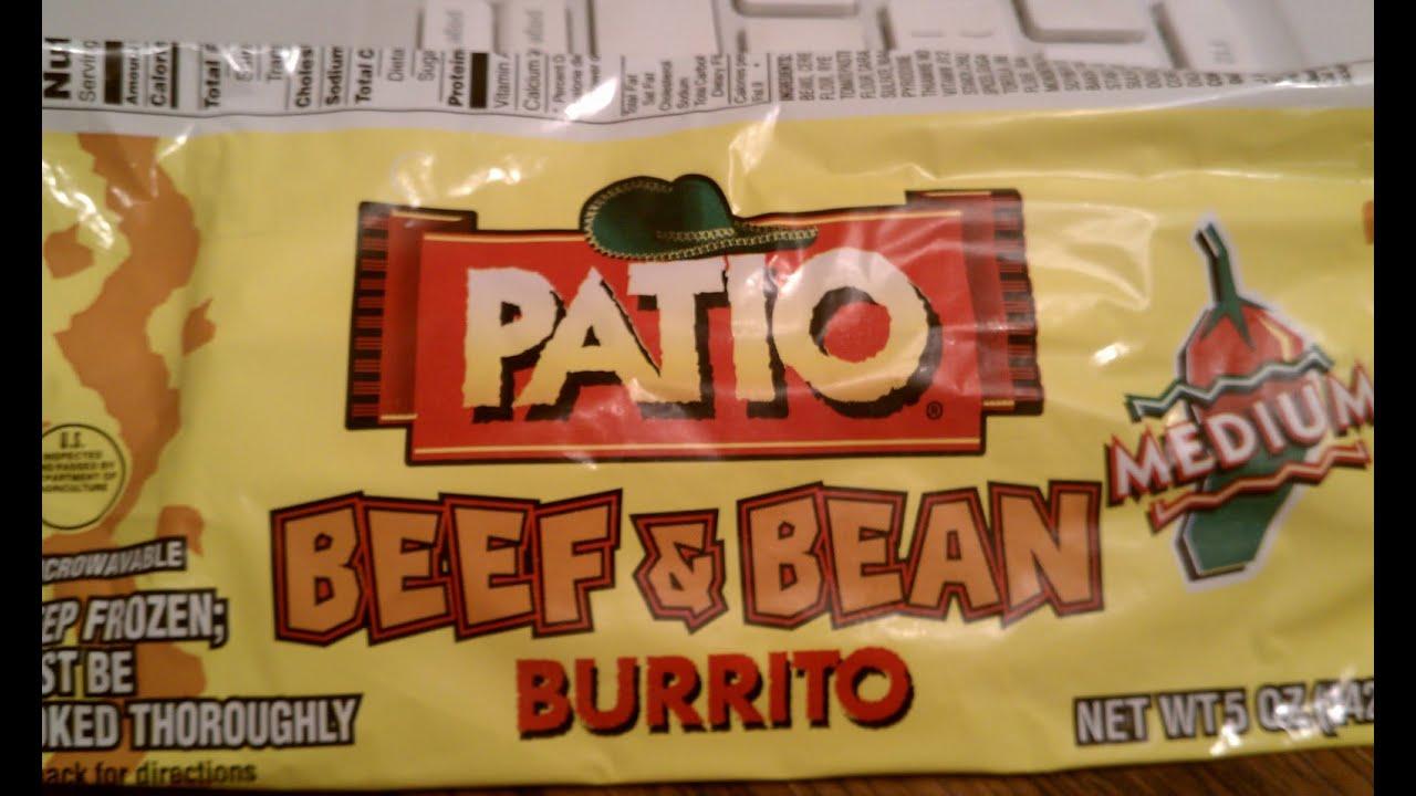 Captivating Patio Medium Beef U0026 Been Burrito