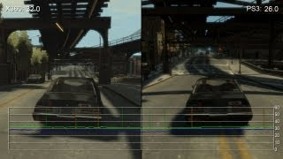 Grand Theft Auto 4: Xbox 360 vs. PS3 Frame-Rate Tests