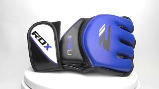 Перчатки для MMA RDX UFC Grappling Boxing Fight Gloves Blue GGRF 12U