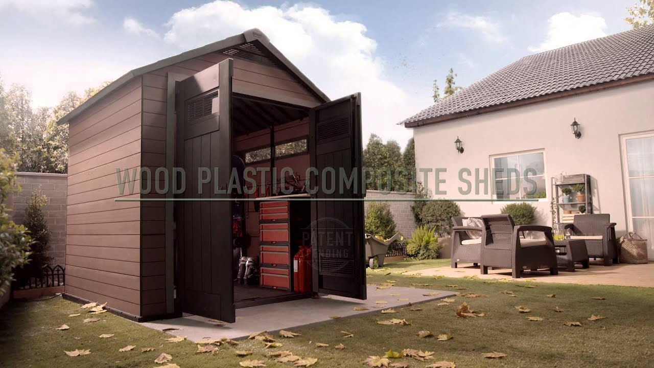 wood plastic composite shed keter fusion youtube