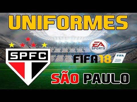FIFA 18 - SÃO PAULO  - UNIFORMES DOS TIMES BRASILEIROS