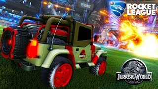 Gameplay de Rocket League com Novo Carro da DLC Jurassic World! Pla...