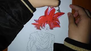 HD cách tô màu Goku ssjg/phần 1