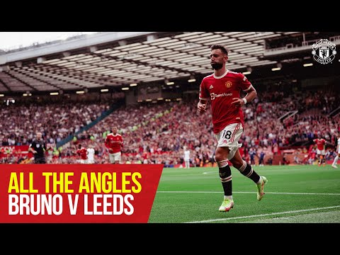 All angles    Bruno's hat-trick against Leeds    United manchester