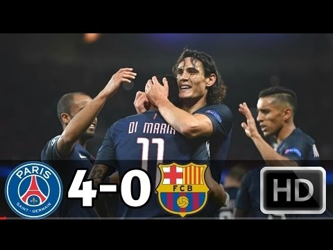 Paris Saint-Germain vs Barcelona 4-0 - All Goals & Extended Highlights - UCL 14/02/2017 HD