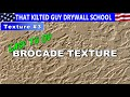 Brocade Drywall Hand Texture that's EASY to do on ceilings or walls